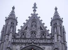 Notre Dame du Sablon De eerste kapel werd gebouwd hier in het oor Stock Foto
