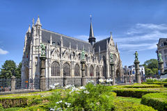 Notre Dame du Sablon's Cathedral Royalty Free Stock Image