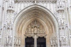 Notre-Dame Du Sablon w Bruksela Fotografia Stock