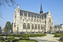 Notre Dame du Sablons Domkyrka arkivfoto