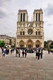 Notre Dame em um dia nebuloso Imagens de Stock