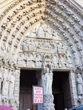 Notre Dame en París Foto de archivo