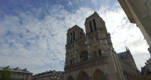 Notre Dame en París Francia almacen de video