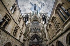 Notre Dame en Ruán Francia Imágenes de archivo libres de regalías