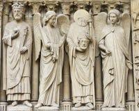Notre Dame facade Royalty Free Stock Photos