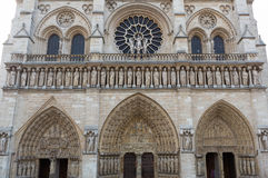 Notre Dame Facade Royalty Free Stock Photography