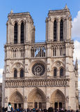 Notre Dame, Famous Catholic Church, Tourism Landmark in Paris France Royalty Free Stock Photography