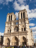 Notre Dame, Famous Catholic Church, Tourism Landmark in Paris France Stock Image
