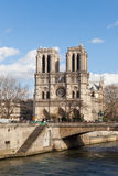 Notre Dame, Famous Catholic Church, Tourism Landmark in Paris France Royalty Free Stock Photo