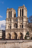 Notre Dame, Famous Catholic Church, Tourism Landmark in Paris France Stock Photography
