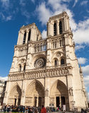 Notre Dame, Famous Catholic Church, Tourism Landmark in Paris France Stock Images