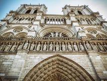 Notre Dame framdel - Paris Arkivbilder