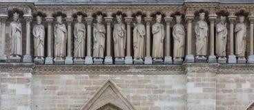 Notre Dame Freize Stock Photo