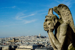Notre Dame Gargoyle Lizenzfreies Stockbild