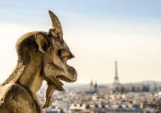 Notre Dame Gargoyle Imágenes de archivo libres de regalías