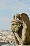 Notre Dame Gargoyle Arkivfoton
