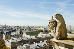 Notre Dame Gargoyle Royaltyfria Foton