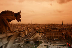 Notre dame gargoyle in Paris Royalty Free Stock Photography