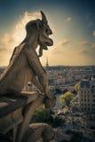 Notre Dame Gargoyle Paris Stock Photo