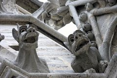 Notre-Dame Gargoyles Royalty Free Stock Photos