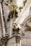 Notre Dame gargoyles statues in Paris Royalty Free Stock Photo