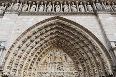 Notre Dame gate Stock Photography