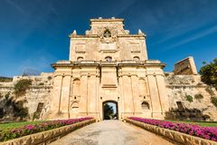 The Notre Dame Gate, Malta architecture.  Royalty Free Stock Images