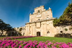 The Notre Dame Gate, Malta architecture.  Royalty Free Stock Photos