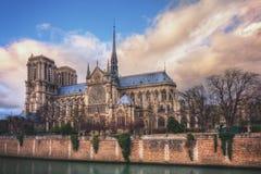 Notre-Dame on Ile de la Cite Royalty Free Stock Photos