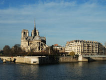 Notre Dame & Île de la Cité in Paris Stock Photos