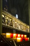 Notre Dame inside royalty free stock image