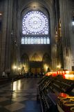 Notre Dame inside royalty free stock photo