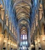 Notre Dame interna Fotografia Stock Libera da Diritti