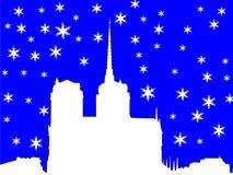 Notre Dame in inverno Immagini Stock