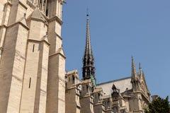 Notre-Dame katedra w Paryż, Francja 2015 zdjęcia royalty free
