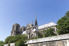 Notre-Dame katedra w Paryż, Francja zdjęcie stock