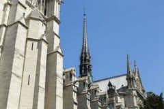 Notre-Dame katedra w Paryż, Francja zdjęcia stock