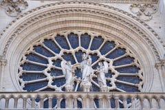 Notre-Dame katedra w Paryż, Francja zdjęcia royalty free