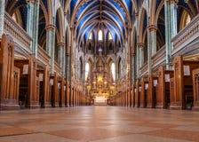 Notre-Dame Katedralna bazylika Ottawa zdjęcia stock