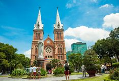 Notre-Dame-Kathedraal in Ho Chi Minh City, Vietnam royalty-vrije stock foto