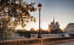 Notre Dame-kathedraal in Parijs, Frankrijk Stock Afbeeldingen