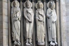 Notre Dame-kathedraal, poort van St Anne, Parijs Stock Fotografie