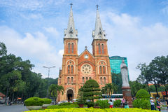 Notre Dame-Kathedrale in Ho Chi Minh City stockbild