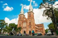 Notre-Dame-Kathedralen-Basilika von Saigon Lizenzfreies Stockfoto