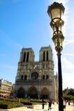 Notre Dame kyrka i paris Frankrike Fotografering för Bildbyråer