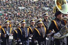 Notre Dame Marching Band. Notre Dame University marching band during Notre Dame football game Stock Photography