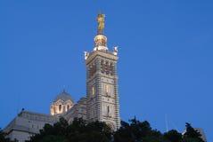 Notre Dame in Marseille in Frankrijk Stock Foto
