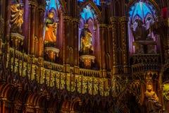 Notre Dame Montreal, detalle interior imágenes de archivo libres de regalías