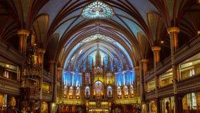 Notre Dame Montreal, interior fotografía de archivo libre de regalías