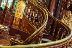 Notre Dame Montreal, spiral staircases royalty free stock photo